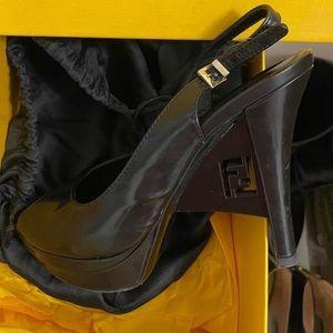 Fendi black heels